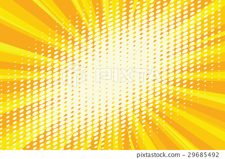 Spot light on the yellow retro background - Stock