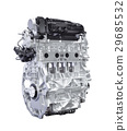 Hybrid car engine isolated with clipping path 29685532