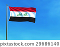 Iraq flag on the blue sky background. 29686140