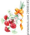 빨간색 카네이션의 꽃다발 29686185
