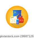 vector combustible hazardous waste icon. 29687126