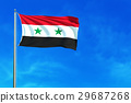 Flag of Syria on the blue sky background.  29687268