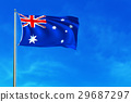 Australia Flag on the blue sky background.  29687297
