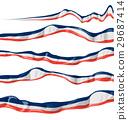 france flag collection horizontal  29687414
