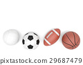 Sports balls with copy space isolated on a white. 29687479