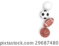 Sports balls with copy space isolated on a white. 29687480