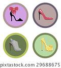 Glamorous High-Heeled Shoes Illustrations Set 29688675