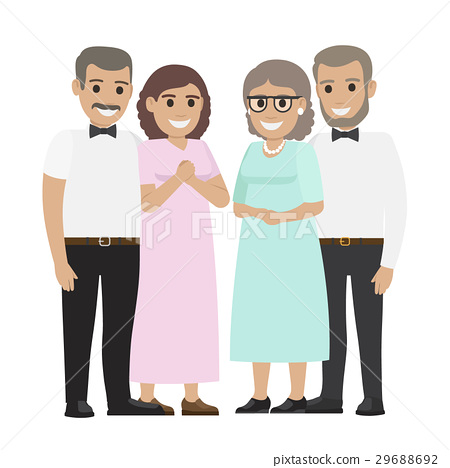 Parents-in-law Flat Vector Illustration 29688692