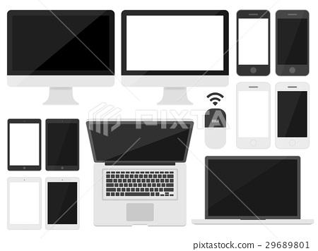 例证套个人计算机和智能手机 29689801