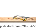 Hammer, nails, saw, screwdriver and neasuring Tape 29690427