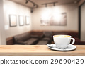 Coffee cup on the wood table. 29690429
