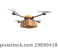 Delivery drone with the cardboard box. 29690438