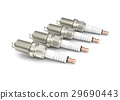 Spark plugs isolated on white background. 29690443