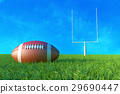 American Football on the Field.  29690447