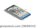 Mobile Smartphone with city map.  29690543