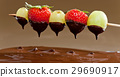 chocolate, fondue, strawberry 29690917