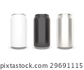 Blank aluminum can on white background.  29691115