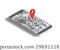 Mobile GPS navigation concept. 29691116