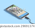 Mobile Smartphone with city map.  29691374