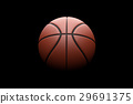 Basketball on black background. 29691375