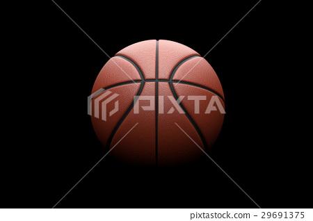 Basketball on black background. 29691375