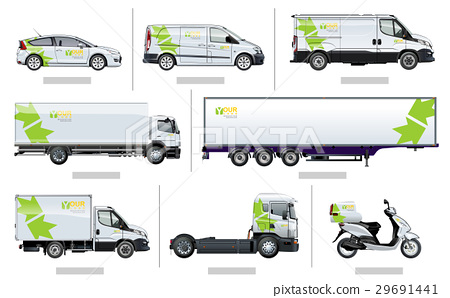 Vector transport template for brand identity 29691441