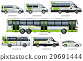 Vector passenger transport template for branding 29691444