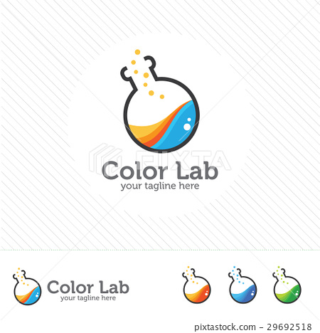 Color lab logo vector laboratory,chemical, medical 29692518