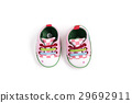 Pink canvas shose baby sneakers isolated 29692911