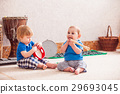 Boys with musical instruments 29693045
