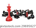 Chess, leader and winner concept. 3D rendering 29695627