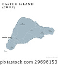 Easter Island political map 29696153