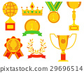 Vector trophy champion cup flat icon winner gold 29696514