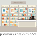 Bookstore with bookshelves 29697721