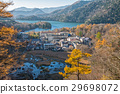 Okunikko and Yuno lake in autumn season, Nikko. 29698072