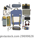 Illustration Drawing Travel Pack Collection 29699626
