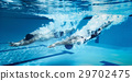 swimmer Jump from platform jumping A swimming pool 29702475