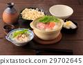 鍋裡煮好的食物 燉湯 日本料理 29702645