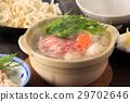 鍋裡煮好的食物 燉湯 日本料理 29702646