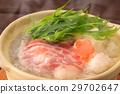 鍋裡煮好的食物 燉湯 日本料理 29702647
