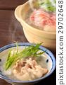 鍋裡煮好的食物 燉湯 日本料理 29702648