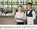 Restaurant waiters 29703231