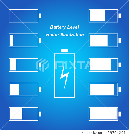 Simple blue battery level vector illustration 29704201