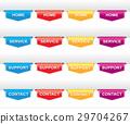 Color set of navigation labels for your design 29704267