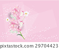 pink flowers bouquet  card design  for background 29704423