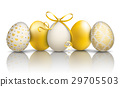 5 Golden Easter Eggs Ornaments Mirror 29705503