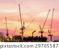 construction crane on industrial construction site 29705587