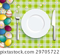 Easter Eggs Picnic Blanket Plate Spoon Knife Fork 29705722