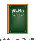 chalk board menu. 29705803