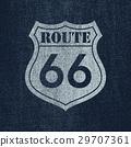 Route 66 - Vintage roadsign illustration 29707361